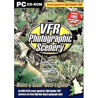 VFR 3 fotografiska landskap - Wales och sydvästra England (Lägg på för Flight Sim-2002)