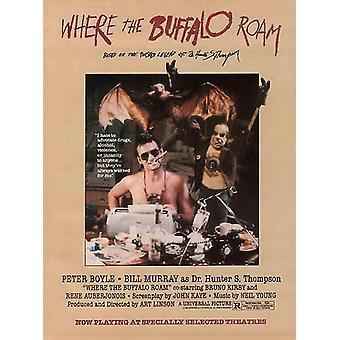 Where the Buffalo Roam Movie Poster (11x17)