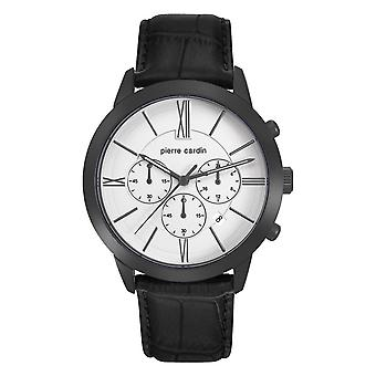 Pierre Cardin mens watch watch Chrono Couture leather PC105891F12
