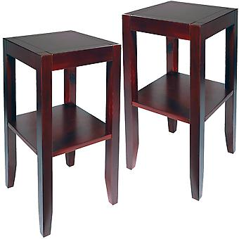 Anywhere - 2 Pack - Solid Wood End / Telephone / Side / Bedside Table - Wenge