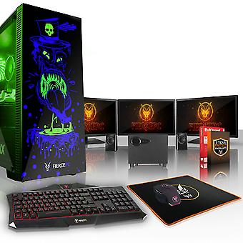 Fierce GOBBLER Gaming PC, Fast Intel Core i5 7400 3.5GHz, 1TB HDD, 8GB RAM, GTX 1080 Ti 11GB