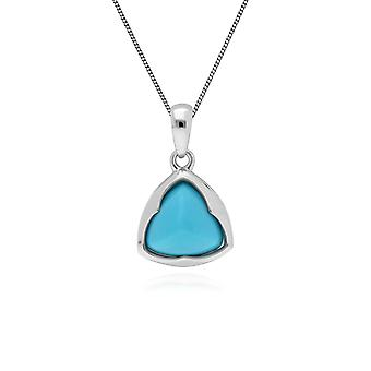 Gemondo Sterling Silver Prism Sugarloaf Turquoise Pendant on 45cm Chain