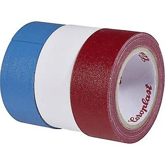 Coroplast 31081 Tuch Band, blau, rot, weiß (L x B) 2.5 m x 19 mm 3 Rollen