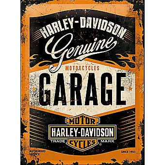Harley Davidson Garage metalen briefkaart / mini teken