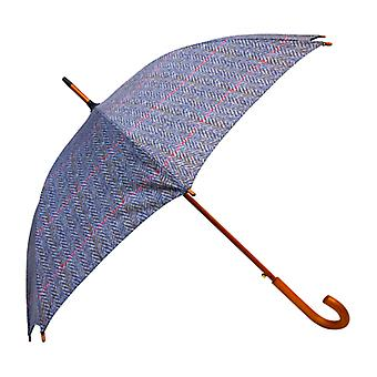 Tweed Herringbone Print  Straight Umbrella HT04