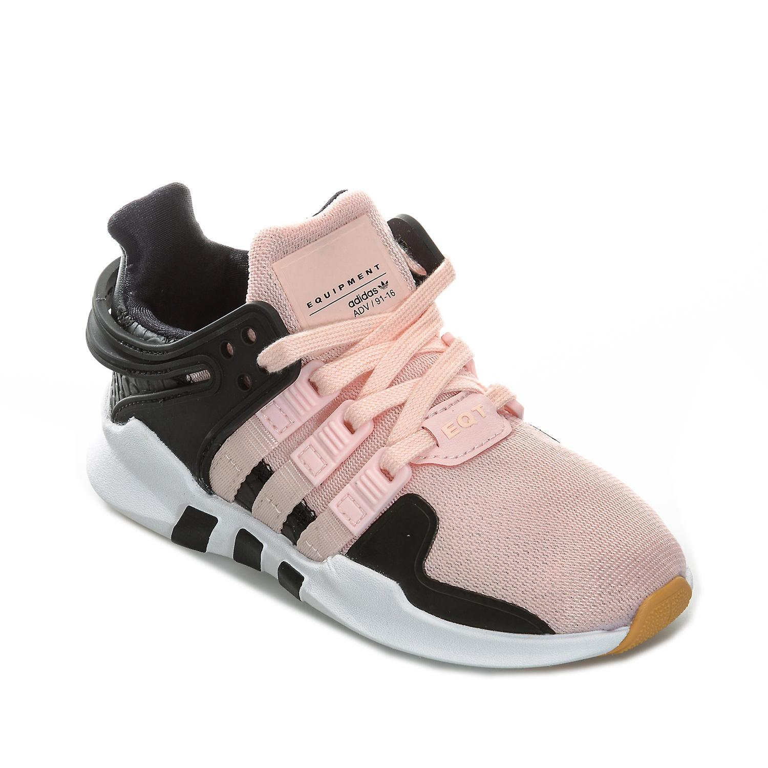 b05d5544330b Children Girls adidas Originals Eqt Support Adv Trainers In Pink- Lace