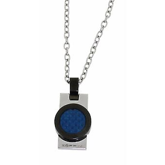 ZOPPINI blauw Carbon ketting