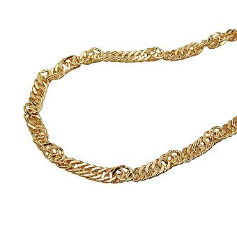Chain 45 cm 1, 8 mm Singapore chain 9Kt GOLD