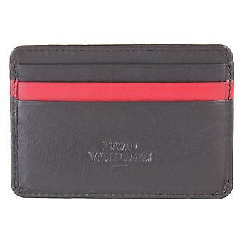 David Van Hagen 7 pasek właściciel karty kredytowej - czarny/czerwony