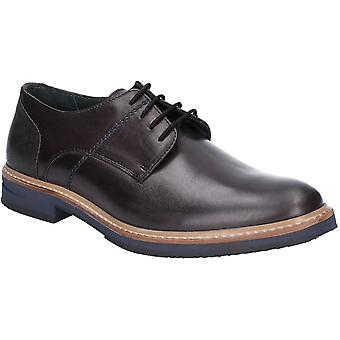 Hush Puppies Mens Pointer Lace Up Light Leather Oxford Shoes
