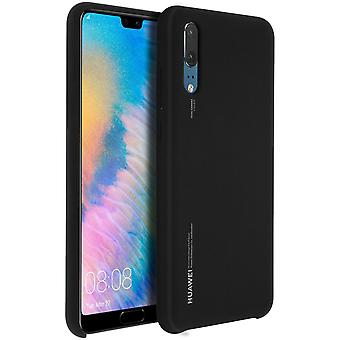 Official Huawei soft touch case, backcover for Huawei P20 - Black