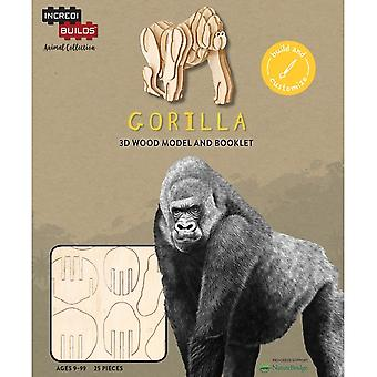 IncrediBuilds Animal Collection Gorilla 3D Wood Model
