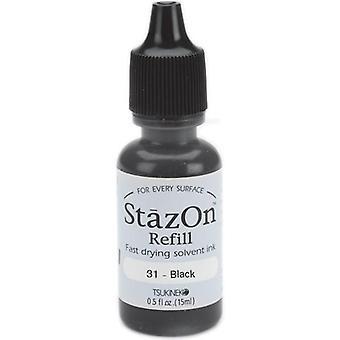 StazOn Solvent Ink Refill .5oz-Jet Black