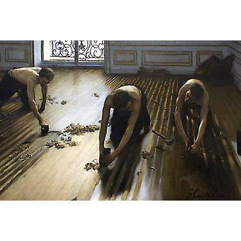 The Floor Scrapers, Sir Lawrence Alma-Tadema, 40x60cm with tray