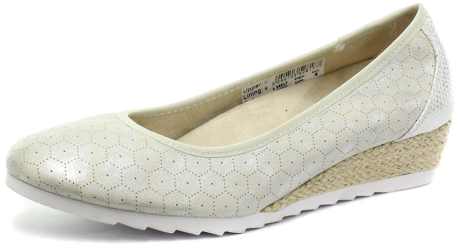 Cipriata Benedetta Silver Womens Casual Wedge Heel Shoes