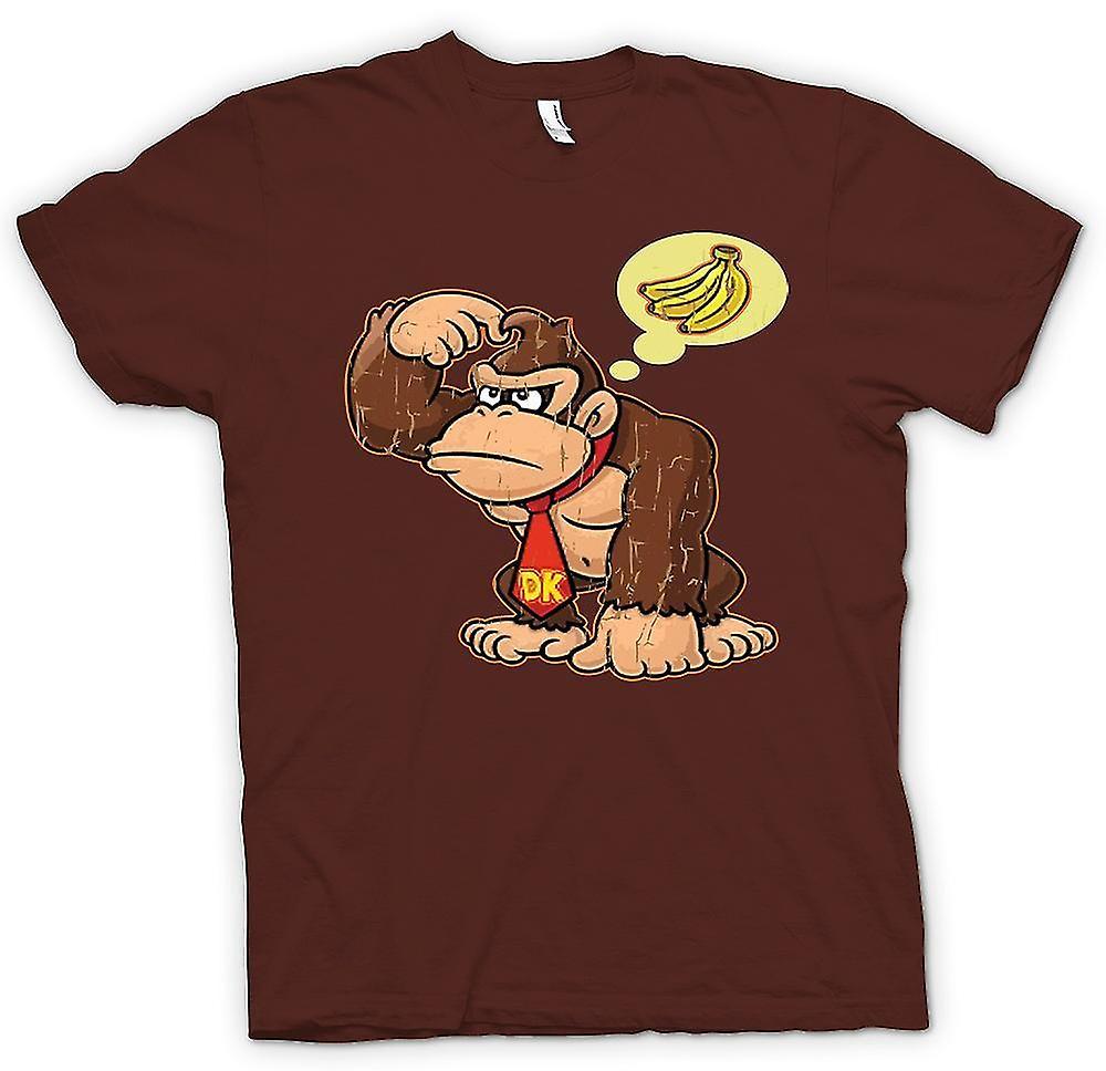 Herr T-shirt - Donkey Kong bananer - Gamer
