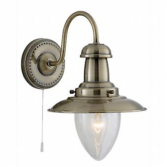 Searchlight 5331-1AB Fisherman Antique Brass Wall Light