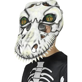 T-Rex Skull Mask, White