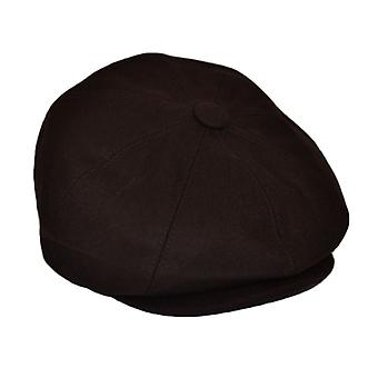 G&H Brown Wool Newsboy Cap 61cm