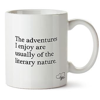 Hippowarehouse opplevelsene jeg liker er vanligvis av litterære natur trykt krus Cup keramiske 10 Unzen