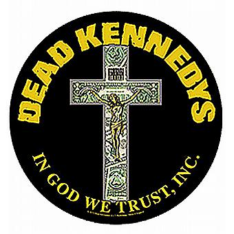 Dead Kennedys In God We Trust duży okrągły szyć na powrót patch (mm)