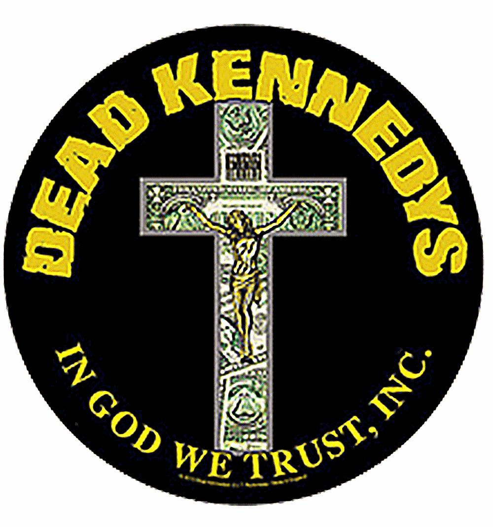 Dead Kennedys In God We Trust large round sew-on back patch  (mm)