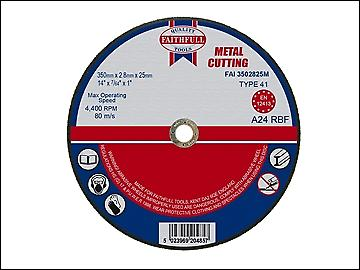 Faithfull Cut Off Disc for Metal 350 x 2.8 x 25mm