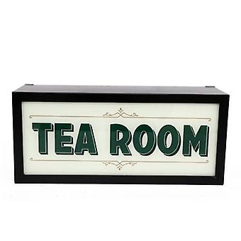 Retro Tea Room Box Light Wall Mounted Display Decoration Sign