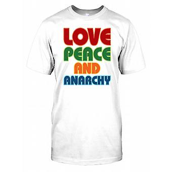 Love Peace and Anarchy Mens T Shirt