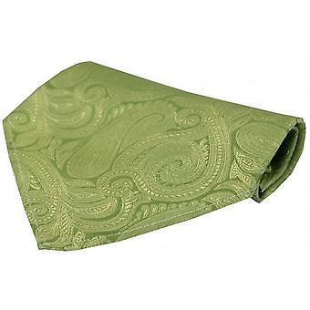David Van Hagen luksushoteller Paisley silke tørklæde - Pastel grøn