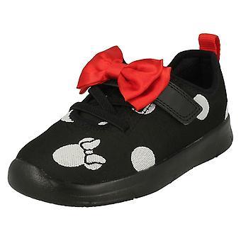 Jenter Clarks Disney Minnie Mouse bue detaljert trenere Ath bue