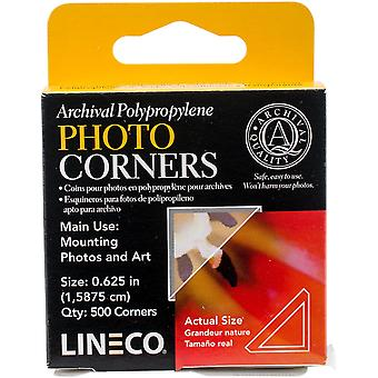 Polypropylene Photo Mounting Corners 500/Pkg-Clear .625