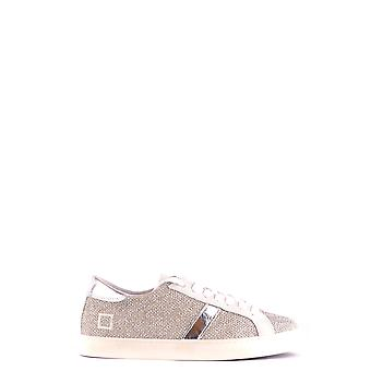 D.a.t.e. Silver Fabric Sneakers