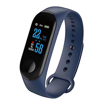 Stuff Certified ® Original M3 Smartband Sport Smartwatch Smartphone Watch OLED iOS Android Blue