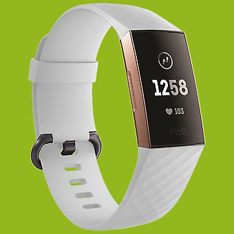 Voor Fitbit charge 3 plastic/silicone armband voor vrouwen/maat S White Watch