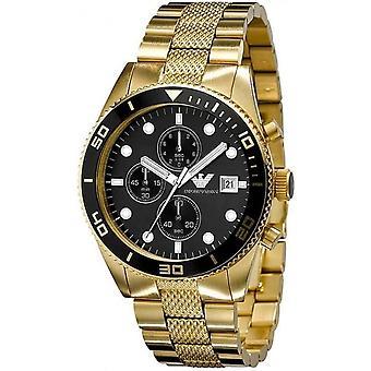 Montre chronographe Armani Ar5857 Gents or en acier inoxydable