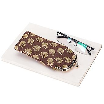 Jane austen oak glasses pouch by signare tapestry / gpch-jane