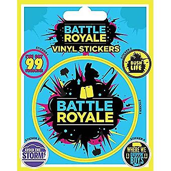 Battle Royale (Infographisch) Vinyl Sticker
