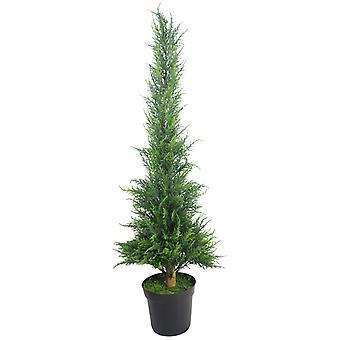 120cm (4ft) Artificial Cedar Cone Cypress Conifer Topiary Tree