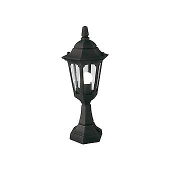 Parish Mini Pedestal Lantern Black