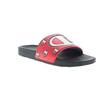 Champion Ipo Repeat C  Mens Red Slip On Slides Sandals Shoes