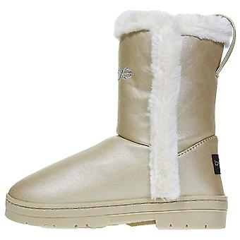 bebe Girls Pearlized Winter Boots with Faux Fur Trims Casual Shoes