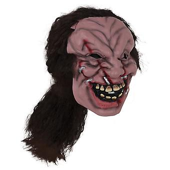 Bristol Novelty Unisex Adults Zombie Mask With Hair