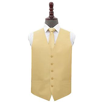 Oro Shantung Wedding Waistcoat & Tie Set