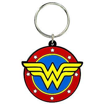 PVC Key Chain - DC Comic - Wonder Woman Logo Soft Touch 45777
