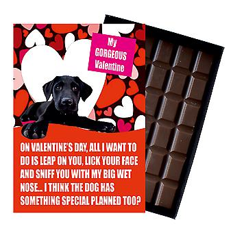 Black Labrador Gift for Valentines Day Presents For Dog Lovers Boxed Chocolate