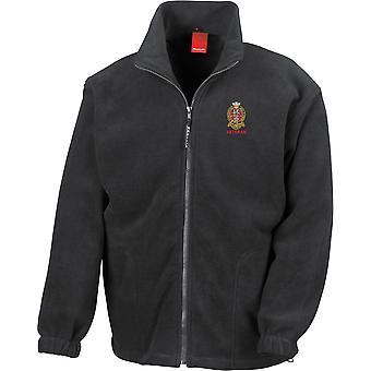 Prince of Wales eget regemente i Yorkshire PWRR-veteran-licensierade brittiska armén broderade tungvikt fleece jacka