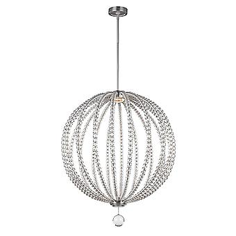 Elstead - Large LED Pendant - Satin Nickel Finish - FE/OBERLIN/P/L