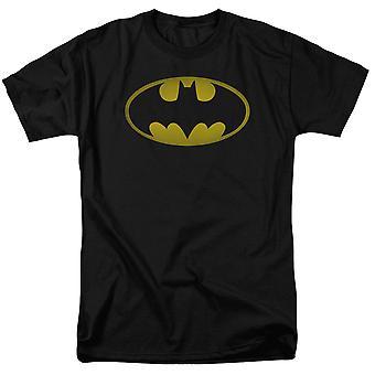 Batman gewassen logo mannen ' s zwart T-shirt