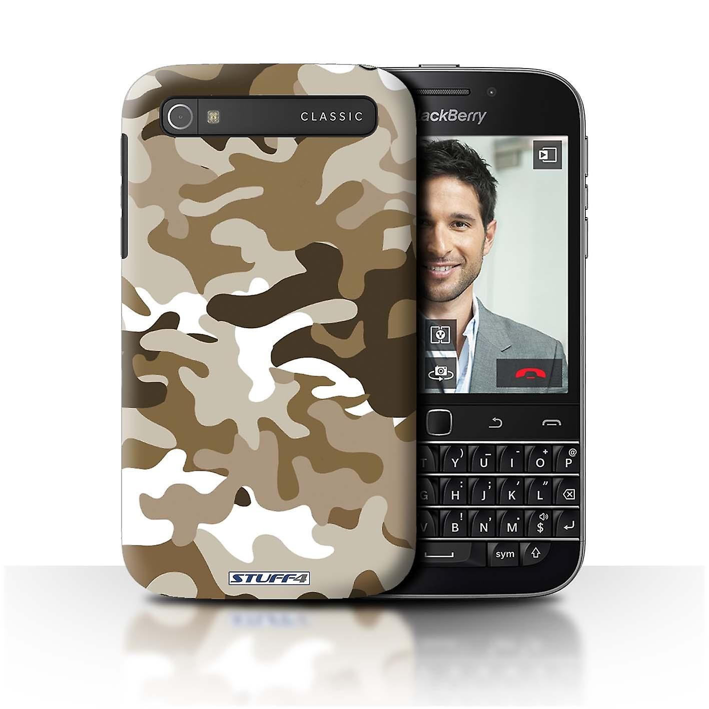 STUFF4 Case/Cover for Blackberry Classic/Q20/Brown 1/Camouflage Army Navy